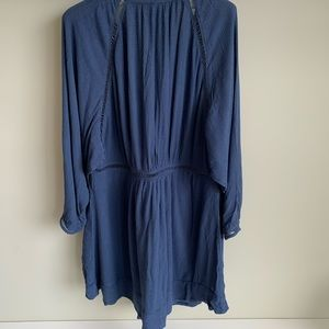 Free People Dresses - Free People Go Lightly plunge v neck mini dress